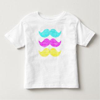 CMY Mustaches (letterpress style) Tshirts