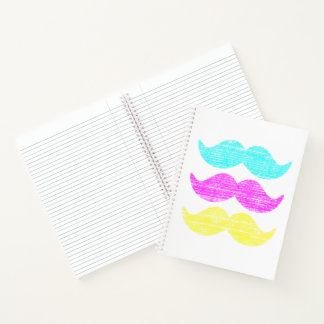 CMY Mustaches Notebook