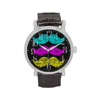 CMY Mustaches Wristwatch
