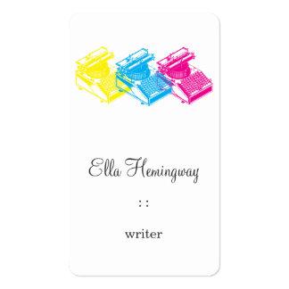 CMY Type Writing Machine Business Cards