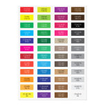 CMYK and Hex Code Color Samples Card