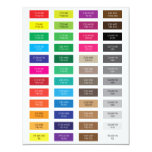 CMYK and Hex Code Color Samples 4.25x5.5 Paper Invitation Card