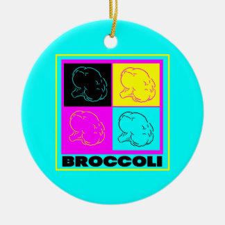 cmyk BROCCOLI display Christmas Tree Ornaments