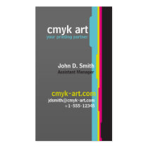colors, cyan, magenta, yellow, black, cmyk, printing, design, corporate, lines, tabs, stripes, hues, colorspace, best, selling, seller, best selling, creative, unique, Business Card with custom graphic design