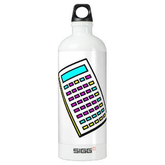 CMYK Calculator Retro Graphic Aluminum Water Bottle