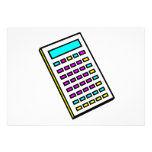 CMYK Calculator Retro Graphic Personalized Announcements