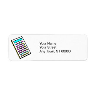 CMYK Calculator Retro Graphic Label