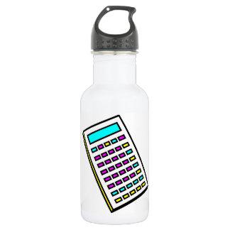 CMYK Calculator Retro Graphic Water Bottle