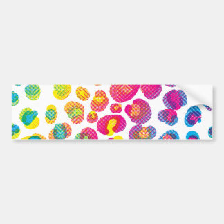 CMYK Cheetah Bumper Sticker
