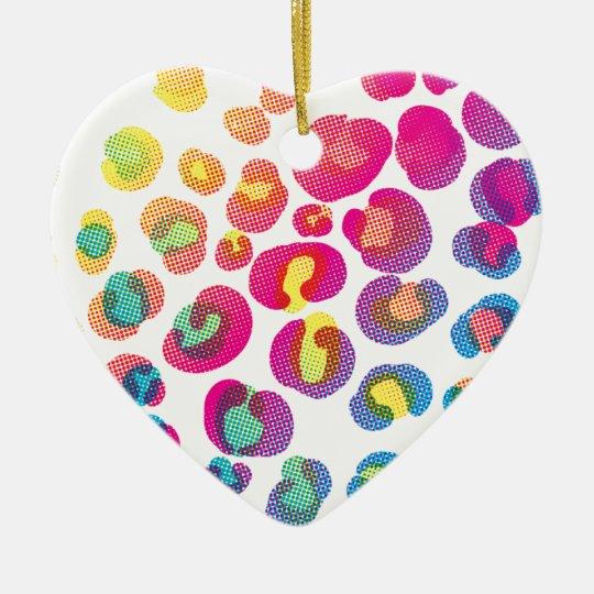 CMYK Cheetah Ceramic Ornament