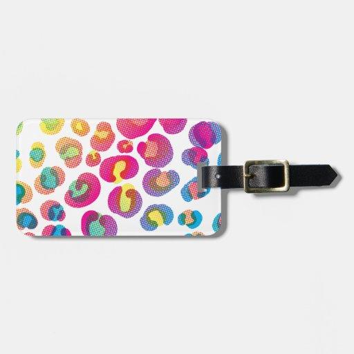 CMYK Cheetah Travel Bag Tags