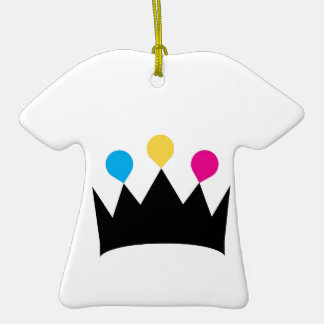 CMYK Crown graphic Christmas Tree Ornaments