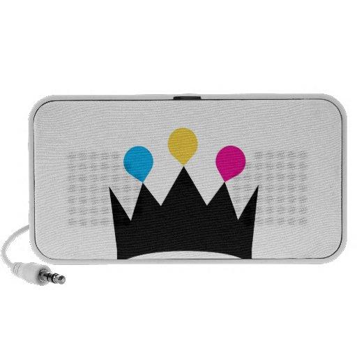 CMYK Crown graphic Portable Speaker