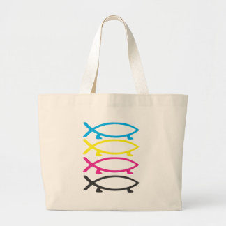 cmyk darwin fishes canvas bags