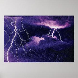 Cmyk de la tormenta 1 póster