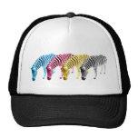 CMYK Drinking zebras Mesh Hats