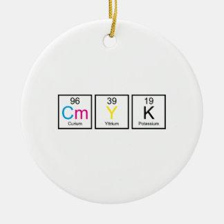 CMYK Elements Christmas Tree Ornament