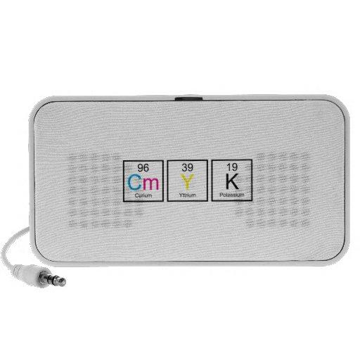 CMYK Elements Travelling Speaker