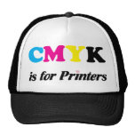 CMYK está para las impresoras 3 Gorra