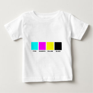 CMYK Four Color Process Model Baby T-Shirt