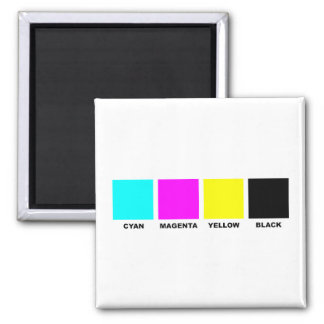 CMYK Four Color Process Model Magnets