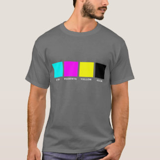 CMYK Four Color Process Model T-Shirt