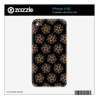 CMYK Fractal Art Star Pattern Decals For The iPhone 4S