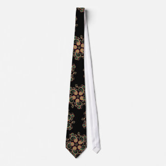 CMYK Fractal Star Pattern Neck Tie