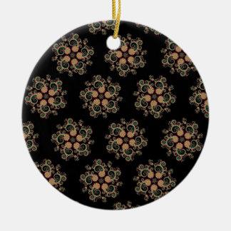 CMYK Fractal Star Pattern Christmas Ornament