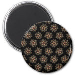CMYK Fractal Star Pattern Refrigerator Magnets
