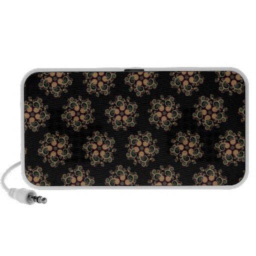 CMYK Fractal Star Pattern Notebook Speaker