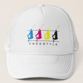 CMYK - Freestyle Skier Silhouette Hat