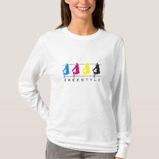 CMYK - Freestyle Skier Silhouette - L/S Shirt