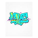 CMYK graffit LOVE word design Custom Flyer