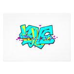 CMYK graffit LOVE word design Personalized Announcement