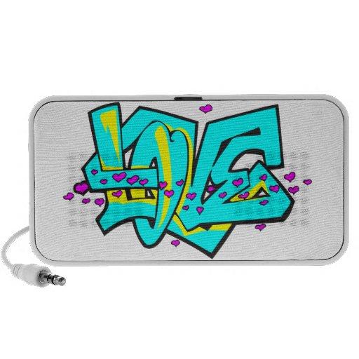 CMYK graffit LOVE word design iPod Speakers