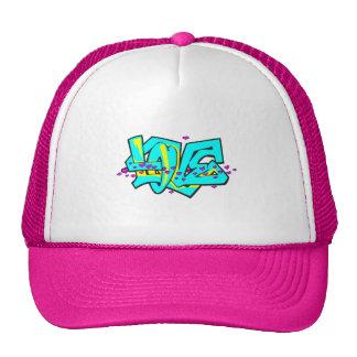 CMYK graffit LOVE word design Trucker Hat