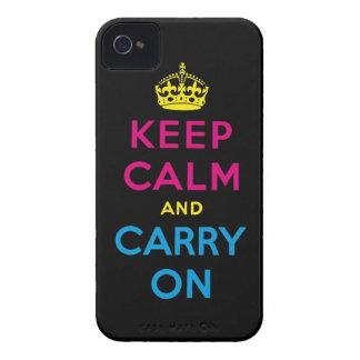 CMYK guardan calma y continúan Carcasa Para iPhone 4