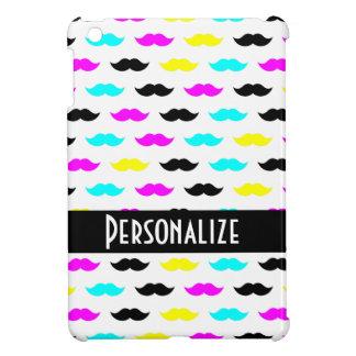 CMYK hipster mustache pattern iPad Mini Case