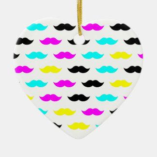 CMYK hipster mustache pattern Ornament