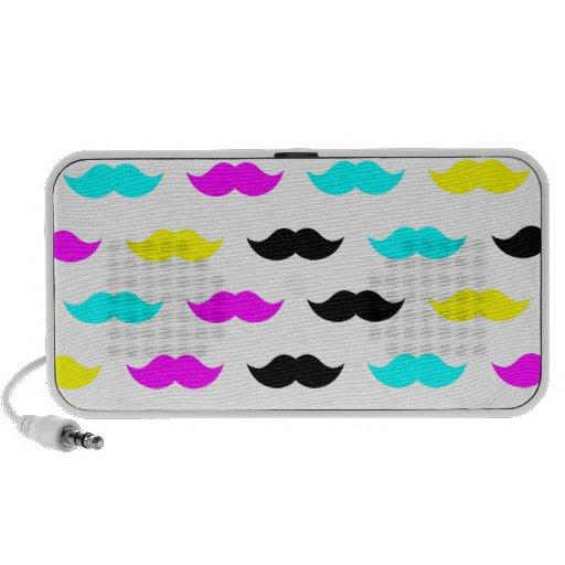 CMYK hipster mustache pattern Travel Speaker