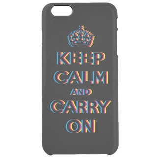 CMYK keep calm and carry on Clear iPhone 6 Plus Case