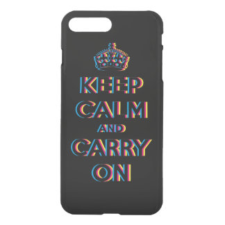 CMYK keep calm and carry on iPhone 8 Plus/7 Plus Case