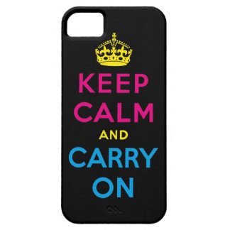 CMYK keep calm and carry on iPhone SE/5/5s Case