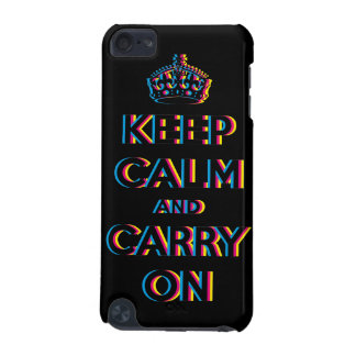 CMYK keep calm and carry on iPod Touch (5th Generation) Case