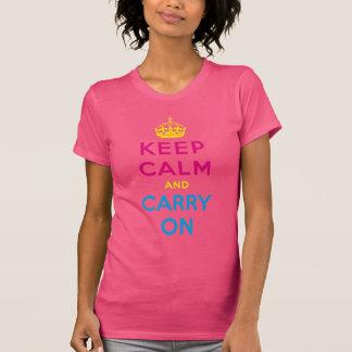 CMYK keep calm and carry on Tshirt