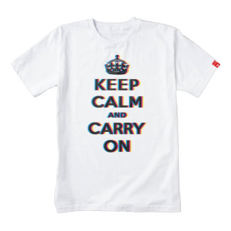 CMYK keep calm and carry on Zazzle HEART T-Shirt