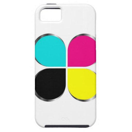 CMYK leaf graphic iPhone 5 Case