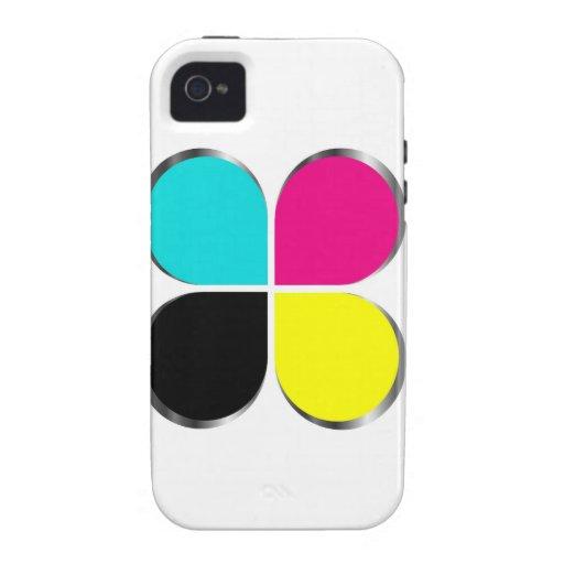 CMYK leaf graphic Vibe iPhone 4 Case