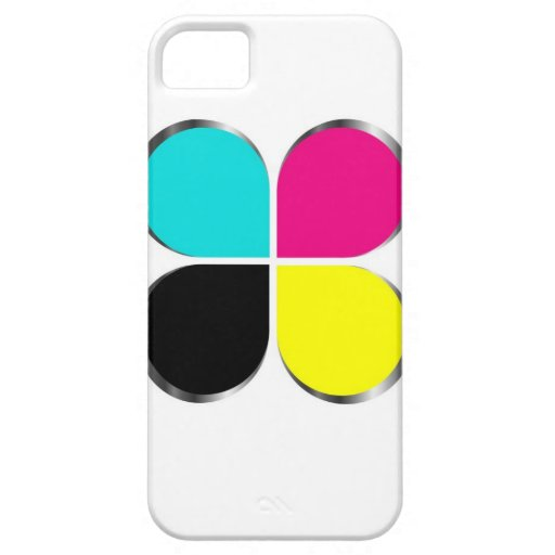 CMYK leaf graphic iPhone 5 Covers
